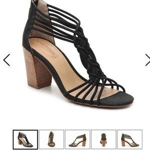 Adam Tucker Black Heeled Sandals size 8